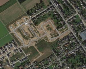 Unser Baugebiet bei Google Maps (Luftbild)