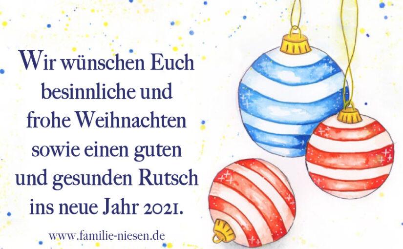 Wir wünschen ein frohes Fest